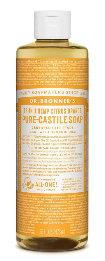 Dr Bronner Hemp Citrus Pure Castile Soap (473ml)