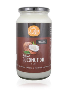 Hello Pure Organic Refined Coconut Oil (No coconut taste) (1L)