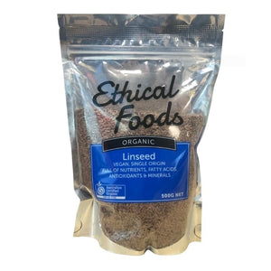 Ethical Foods Organic Linseed (Flaxseed) (500g)