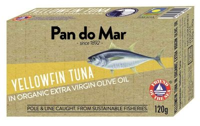 Pan do Mar Yellowfin Tuna in Organic Olive Oil (120g)