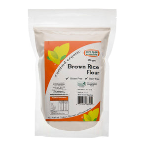 Organic Brown Rice Flour - Pure Food Essentials (500g)