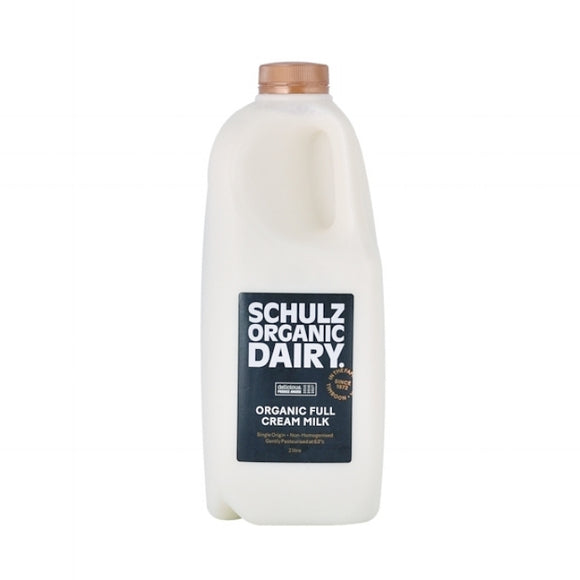 Milk Schulz Organic Full Cream Unhomogenised (2L)