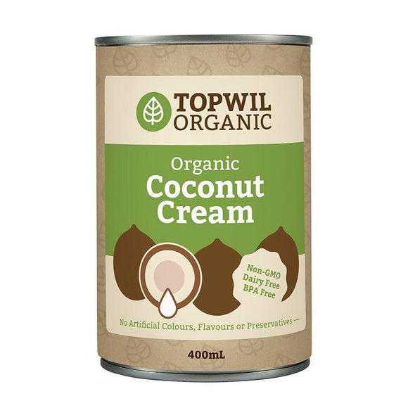 Topwil Organic Coconut Cream (400ml)