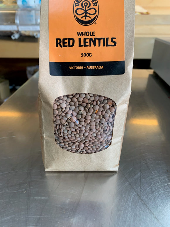 Lentils - Whole Red Biodynamic (500g)