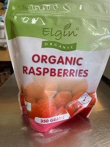 Elgin Frozen Organic Raspberries (350g)