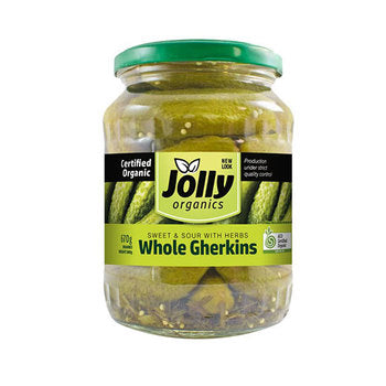 Jolly Organic Whole Gherkins (670g)