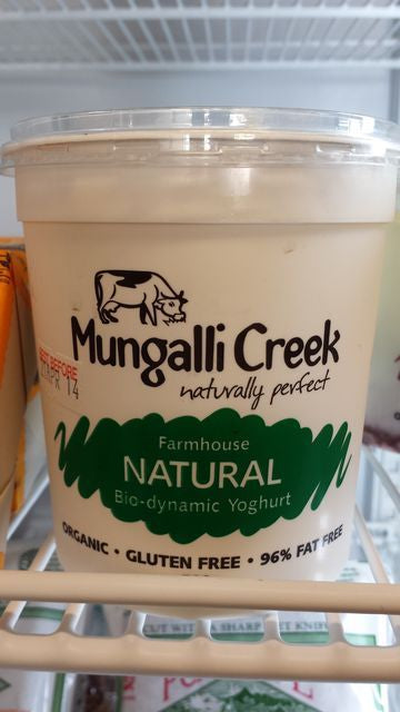 Mungalli Natural Biodynamic Yoghurt