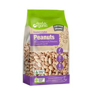 Absolute Organic Roasted & Salted Peanuts 250g