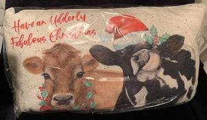 Udderly Fabulous Christmas Cushion