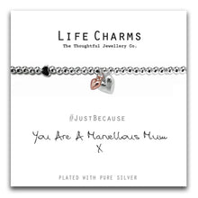 Load image into Gallery viewer, Life Charms *Marvellous Mum Hearts Bracelet