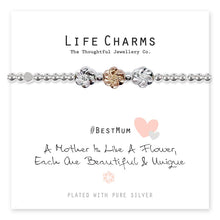 Load image into Gallery viewer, Life Charms A Mother Is Like A Flower Bracelet