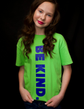 WCM BE KIND Lime Green Tee
