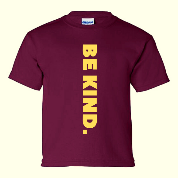 WCM BE KIND Burgundy Tee