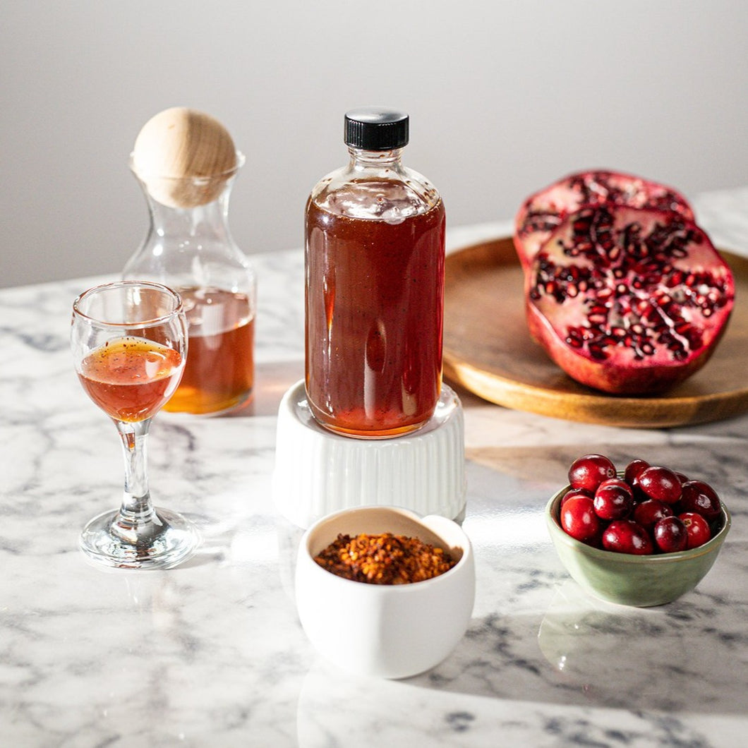 High Bar Syrups & Mixers: Cranberry-Pomegranate Honey