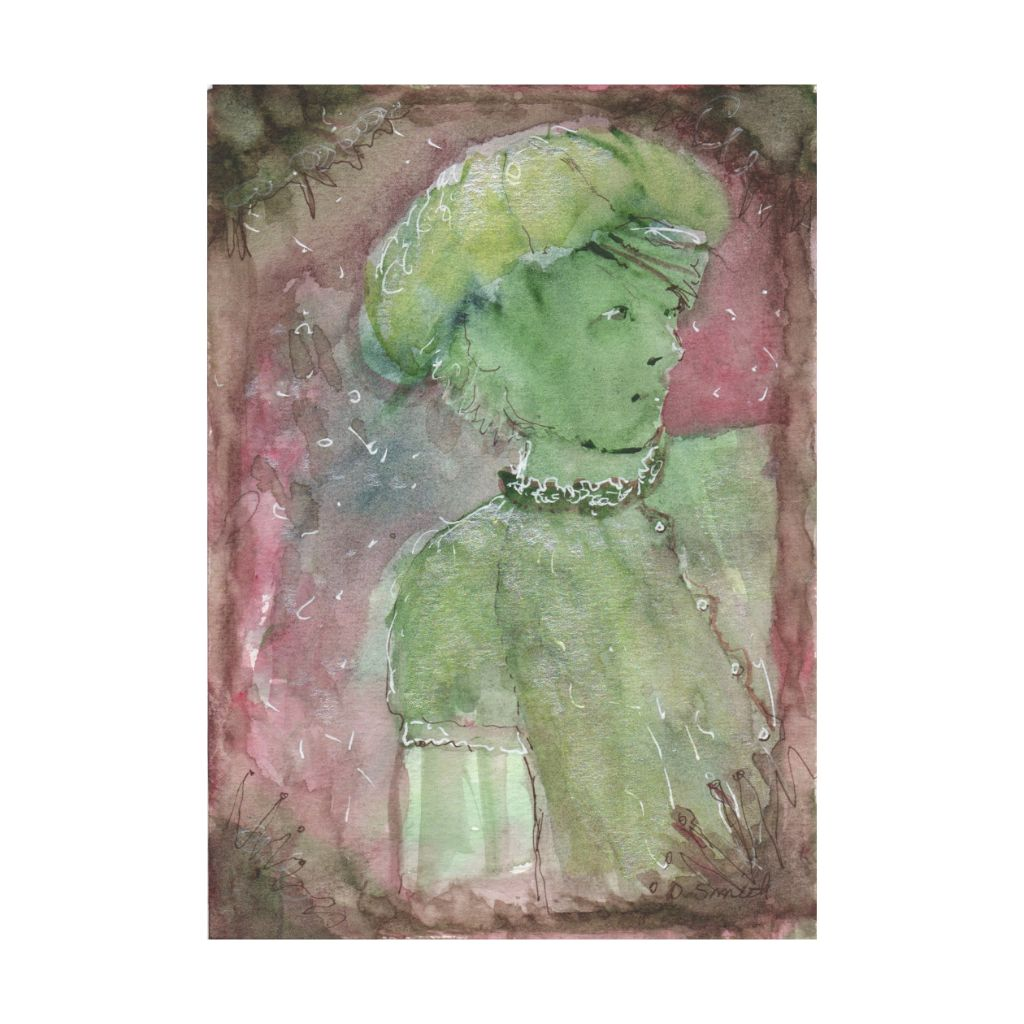 Green Girl Postcard