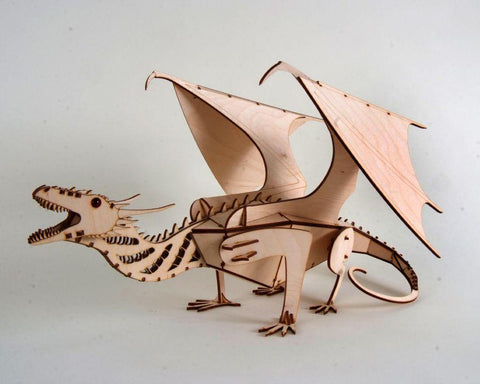 Wooden DIY Dragon Piggy Bank kit