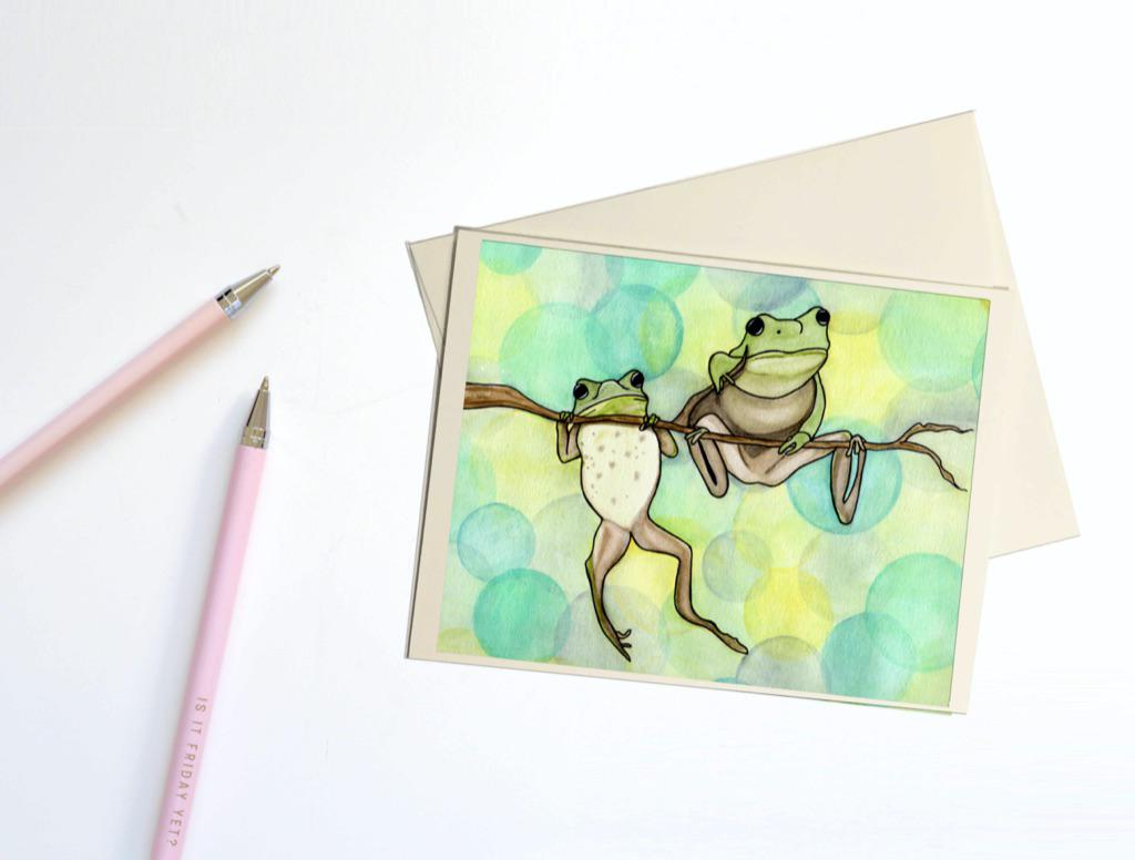 Hanging Out, Art Notecard