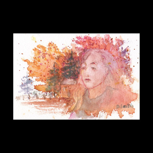 Woman Loves Fall Postcard