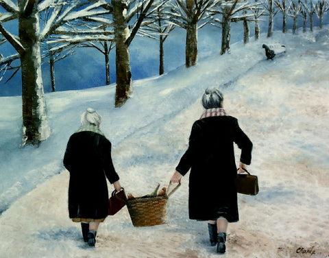 A Winter's Walk Fine Art Print