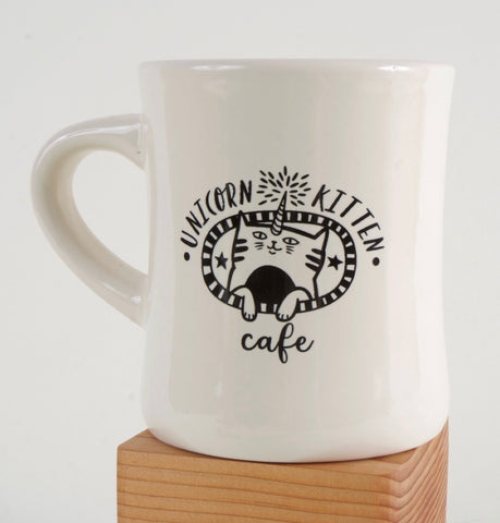 Unicorn Kitten Cafe Diner Mug