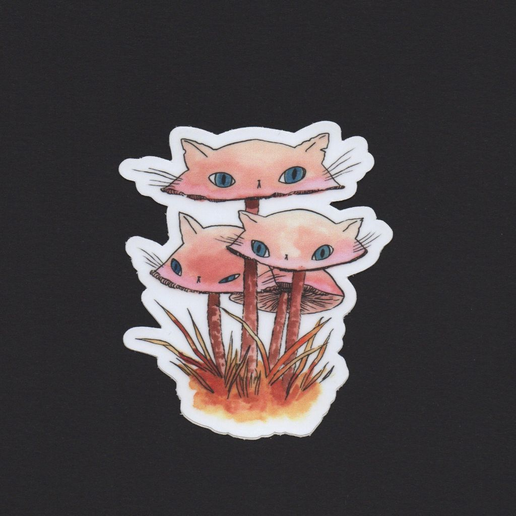 Pinkies Meowshroom Sticker