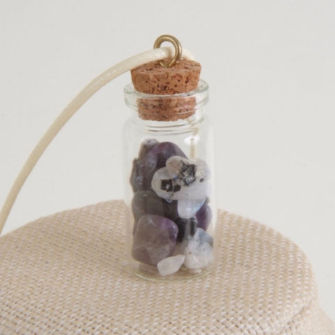 Charms Moonstone & Amethyst Necklace