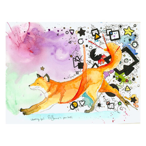 Letting Go Fine Art Greeting Card of a Fox