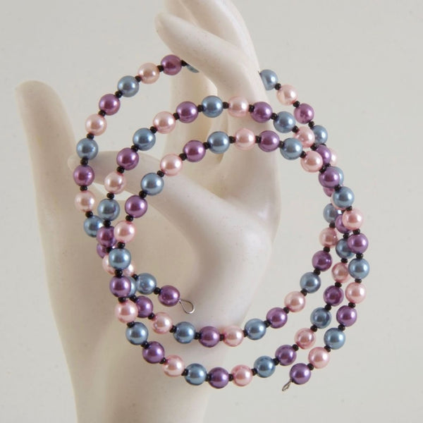 Pink, purple, blue Bracelet, Adjustable