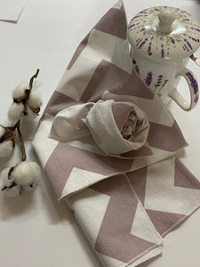 Brown and white Creating Moments Chevron Fabric Napkin
