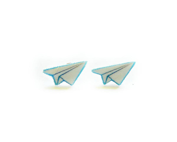 Paper Airplane Stud Earrings