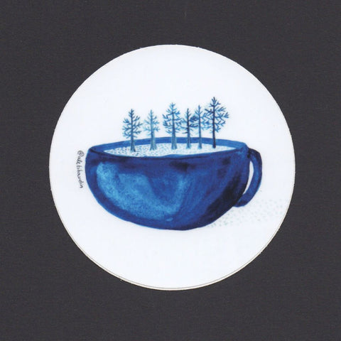 Cup of Trees Sticker