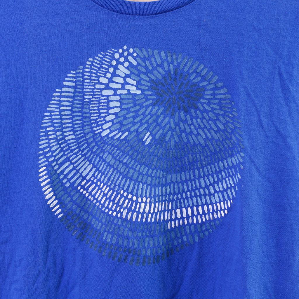 Blue Circle  Handpainted T-Shirt