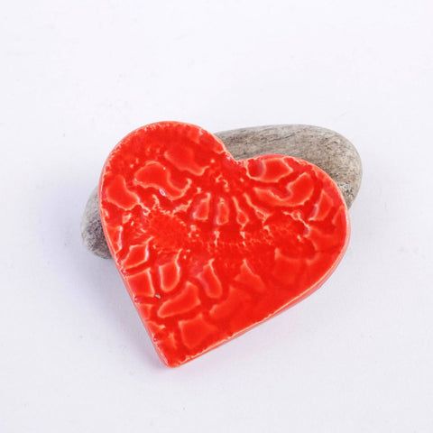Red Ceramic Heart