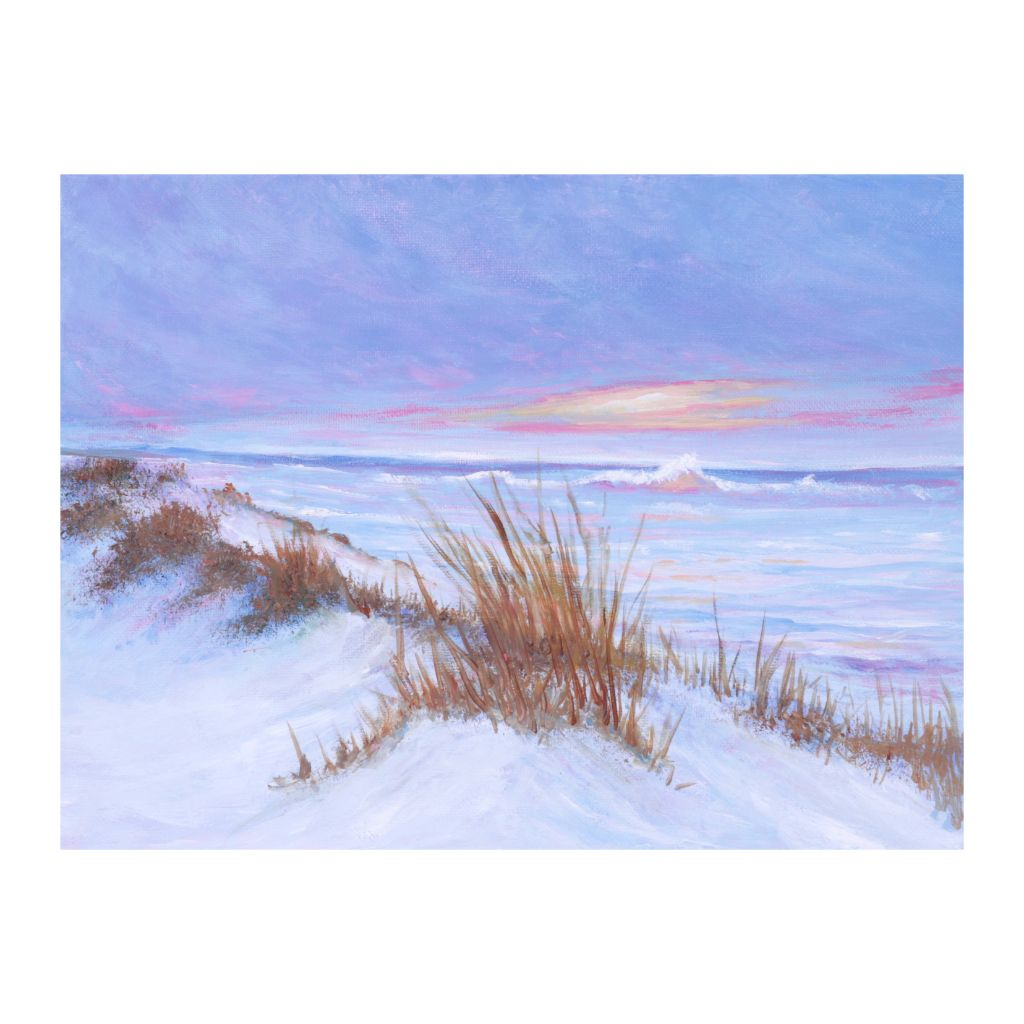 Pink Beach -  Scenic Oil Painting