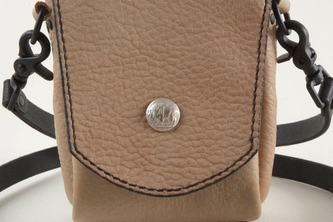 Beige Buffalo Leather Bag