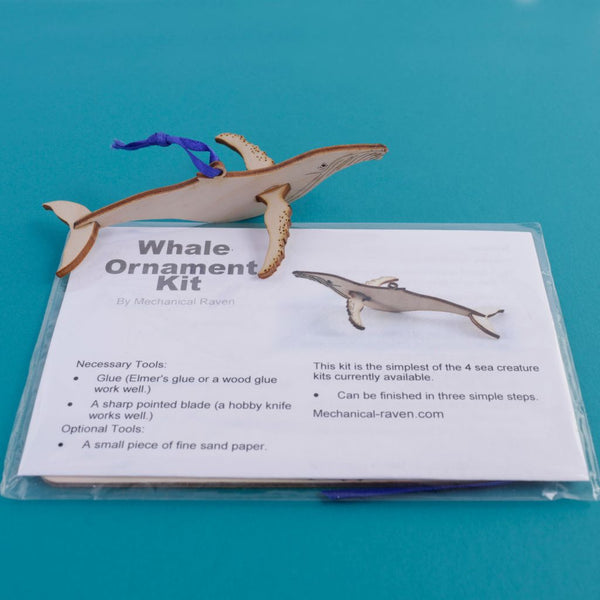 Wooden DIY Whale Ornament Kit