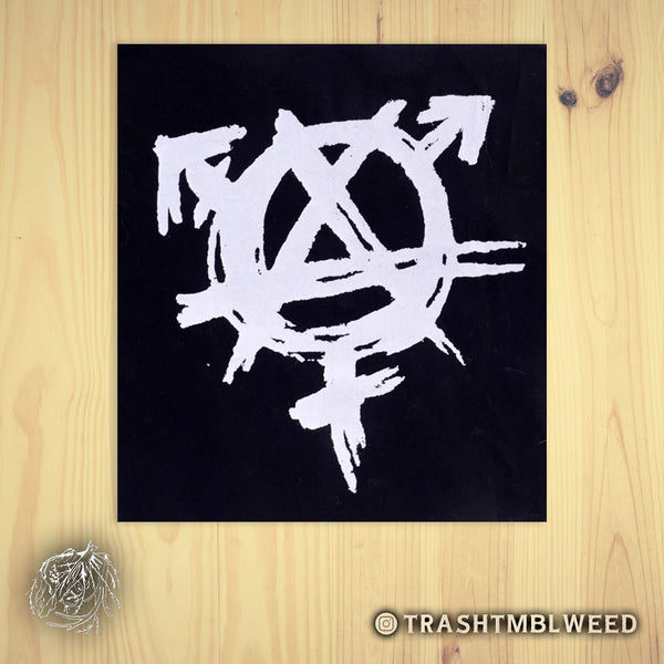 Gender Anarchy Silk Screened Fabric Patch