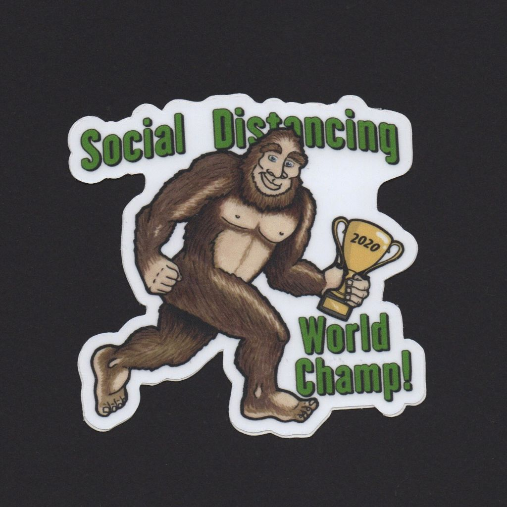 Bigfoot Social Distancing Sticker