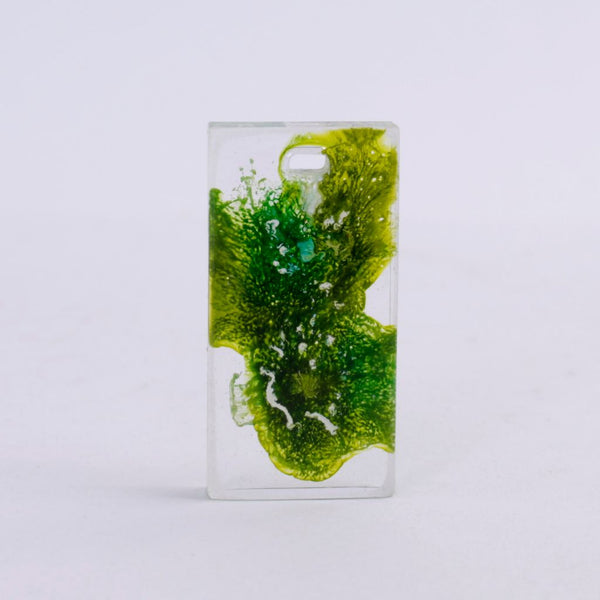 Medium Green & Gold Resin Pendant