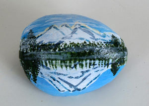Hand Painted Mount Rainier Rock