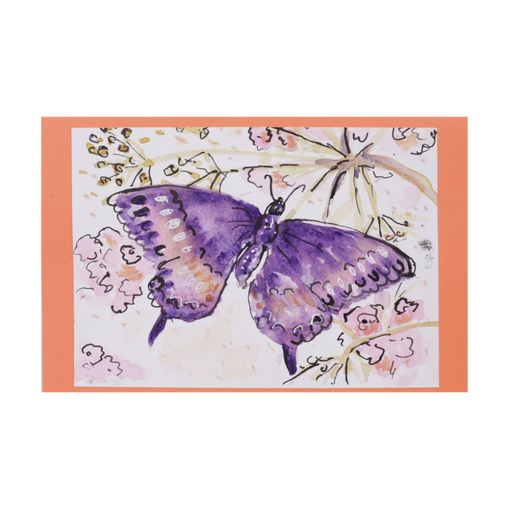 Big Butterfly Purple Card