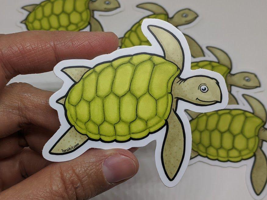 Sea Turtle Vinyl Sticker by TursiArt