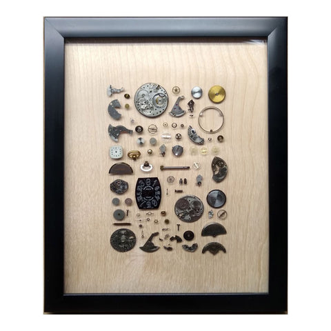 Watch Parts - a Resin Collage of Innards