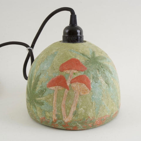 Red Mushroom Mycelium Hemp Lamp