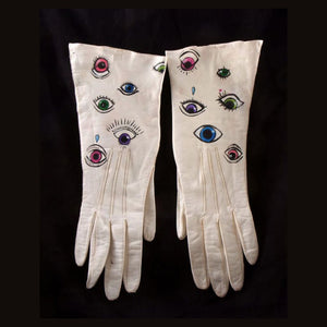Hand Painted Nouveau Eye Gloves