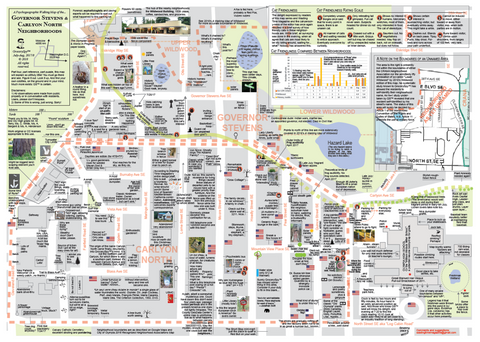 Psychogeographic Walking Map (Gov Stevens, Carlyon N Neighborhoods))