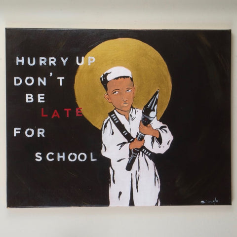 Late for School Original Painting