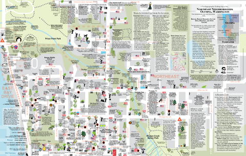 Psychogeographic Walking Map  (NE Neighborhoods)