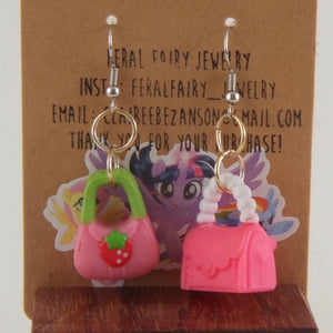 Fancy Purse earrings