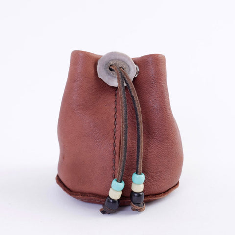 Moose Leather Drawstring Pouch